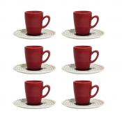 Conjunto 6 Xícaras Com Pires De Café Expresso - Café Ao Alvo - Oxford Porcelanas