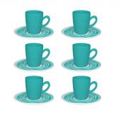 Conjunto 6 Xícaras Com Pires De Café Expresso - Café Arte - Oxford Porcelanas