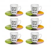 Conjunto 6 Xícaras Com Pires De Café Expresso - Coffee Time - Oxford Porcelanas
