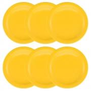 Conjunto C/ 6 Pratos Rasos 26Cm - Floreal Yellow - Oxford Daily