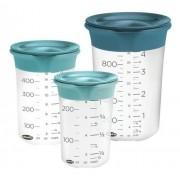 Conjunto com 3 copos medidores com tampa SleekStor? - Chef'N