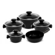 Conjunto De Panelas De Cerâmica Ceraflame  5 Peças Chef - Preto