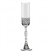Jogo De 6 Taças De Cristal Espumante 232ml Cidade Da Garoa Oxford Crystal Handmade
