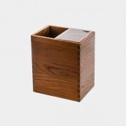 Porta Facas E Utensílios Legnoart Mistery Box Em Madeira Escura