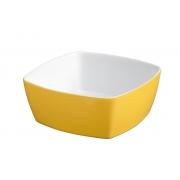 Tigela Quadrada De Cerâmica Ceraflame 14Cm 400Ml  -  Amarelo