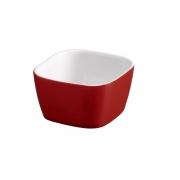 Tigela Quadrada De Cerâmica Ceraflame 6Cm 50Ml  -  Vermelho