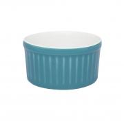 Tigela Ramequin 10X5Cm 180Ml - Branco/Azul - Oxford Cookware