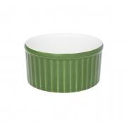 Tigela Ramequin 10X5Cm 180Ml - Branco/Verde - Oxford Cookware