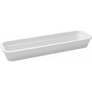 Travessa Container Retangular Em Melamina 52X16Cm - Branco Marfim - Oxford