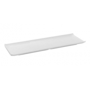 Travessa Retangular Rasa Em Melamina 28 X 9,3 X 1,7Cm - Branco Marfim - Oxford