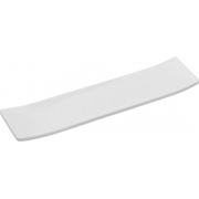 Travessa Slim Para Servir Em Melamina 35,5X8,5Cm - Branco Marfim - Oxford