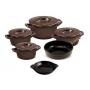 Conjunto De Panelas De Cerâmica Ceraflame  5 Peças Duo+ Smart Chocolate Com Assadeira 20Cm