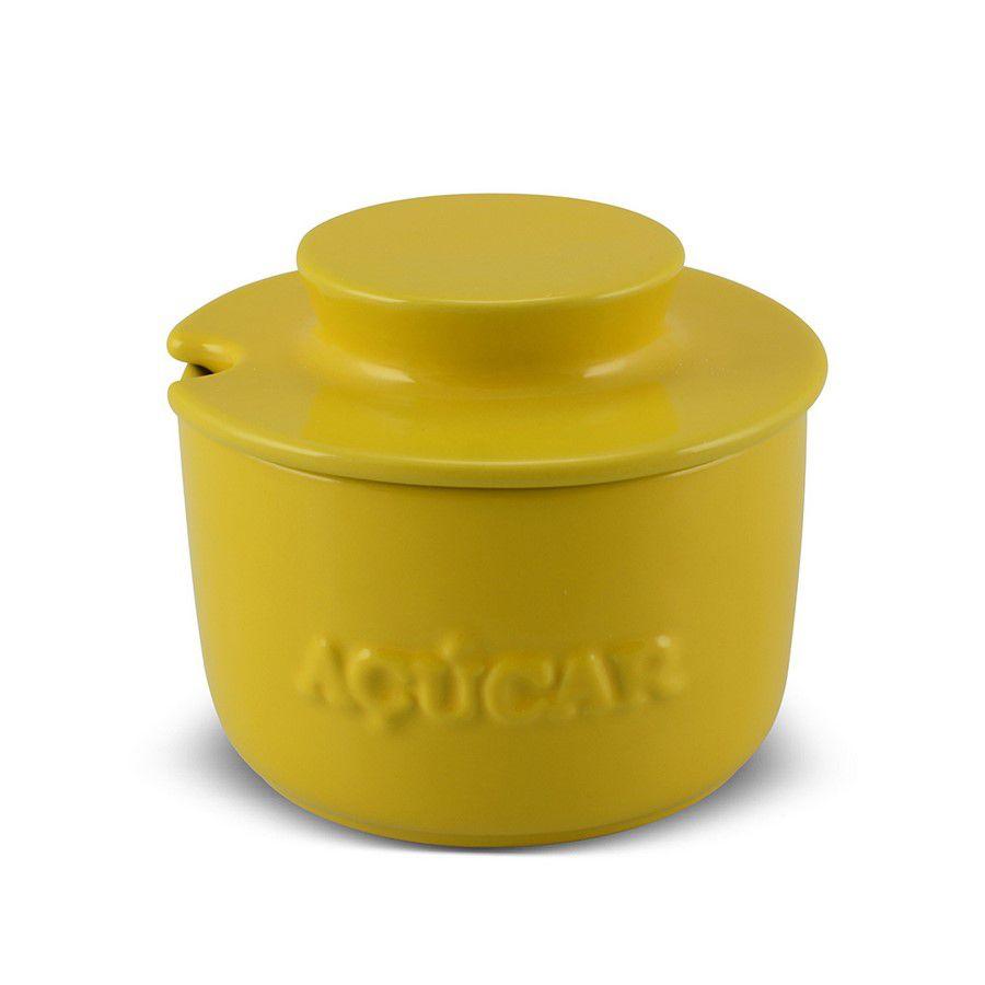 Açucareiro De Cerâmica 350GR MondoCeram Gourmet - Amarelo