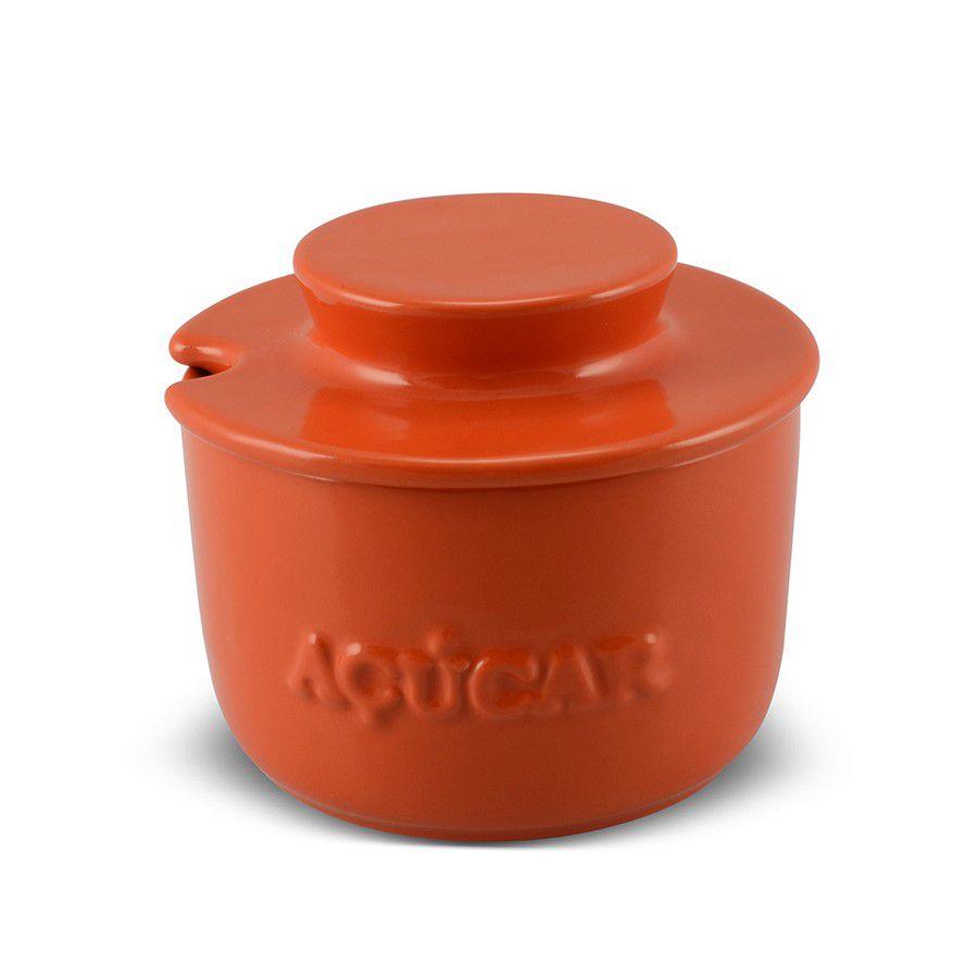Açucareiro De Cerâmica 350GR MondoCeram Gourmet - Laranja