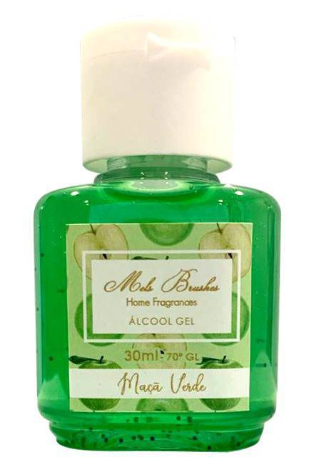 Álcool Gel - 30 Ml-  Maça Verde Mels Brushes