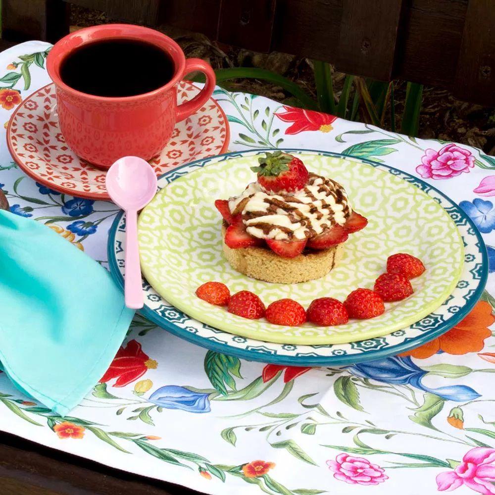 Aparelho De Jantar 20 Peças Floreal Thai - Oxford Daily