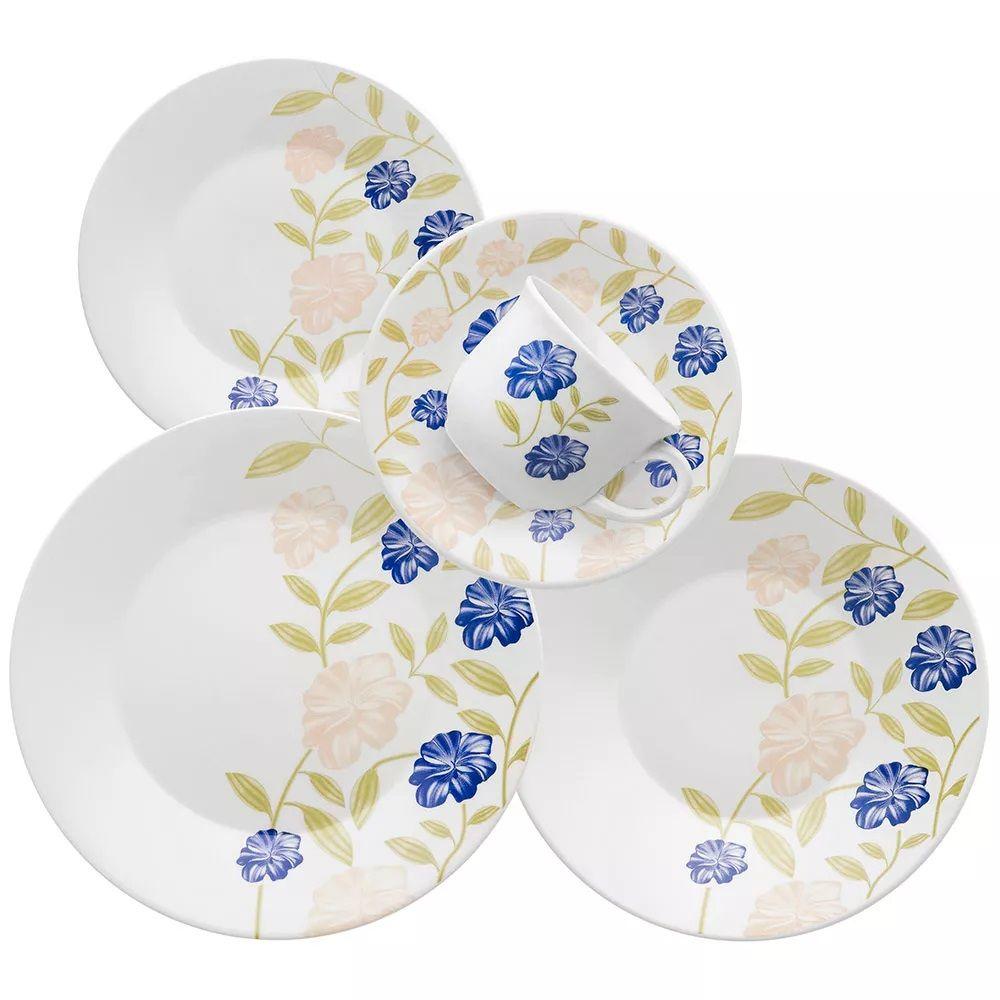 Aparelho De Jantar 30 Peças Actual Azul Perfeito - Oxford Biona