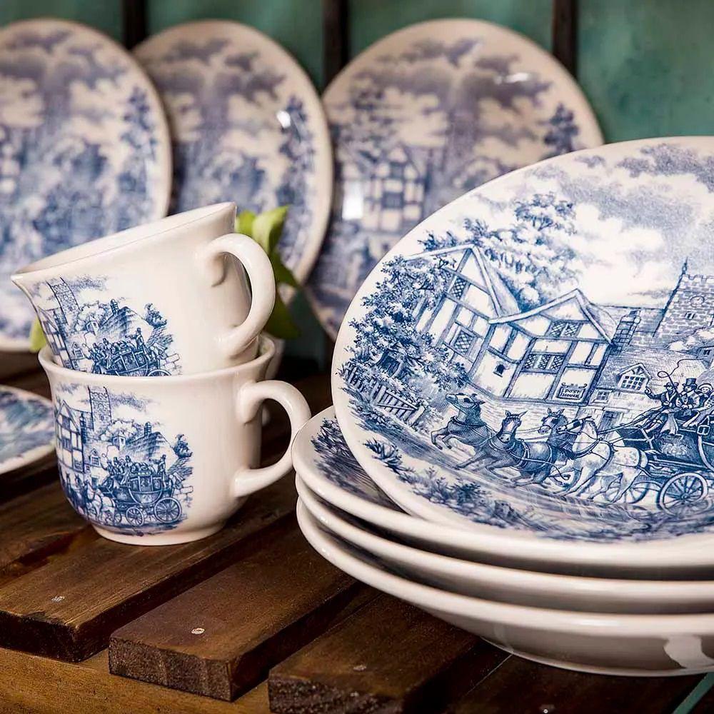 Aparelho De Jantar 30 Peças Actual Cena Inglesa - Oxford Biona