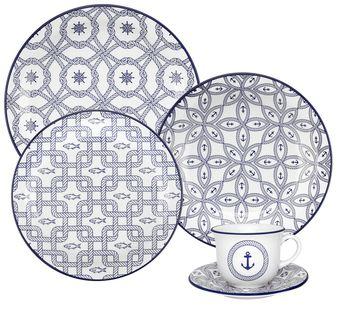 Aparelho De Jantar 30 Peças Floreal Náutico - Oxford Daily