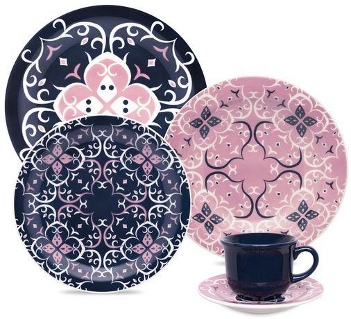 Aparelho De Jantar/Chá 20 Peças Floreal Hana - Oxford Daily