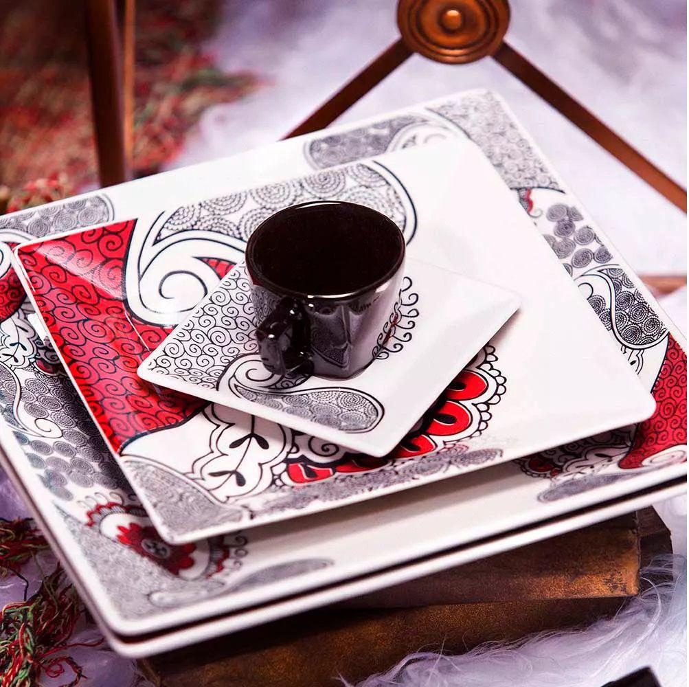Aparelho De Jantar/Chá 20 Peças Quartier Boho - Oxford Porcelanas