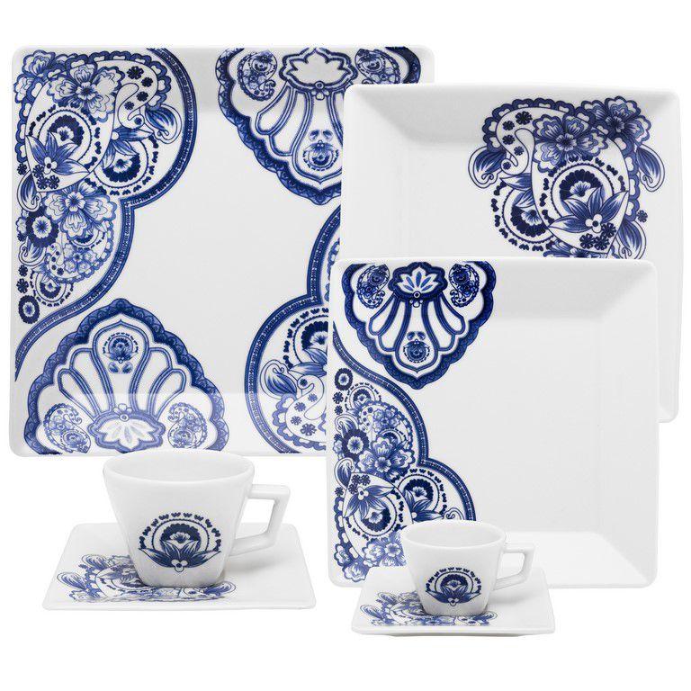 Aparelho De Jantar/Chá 20 Peças Quartier Cashemere - Oxford Porcelanas