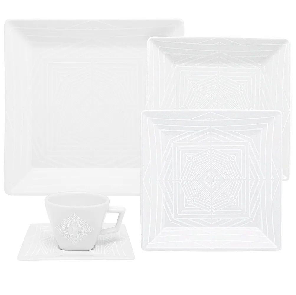 Aparelho De Jantar/Chá 20 Peças Quartier Cosmo - Oxford Porcelanas