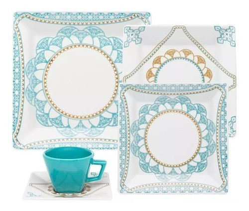 Aparelho De Jantar/Chá 20 Peças Quartier Domo - Oxford Porcelanas