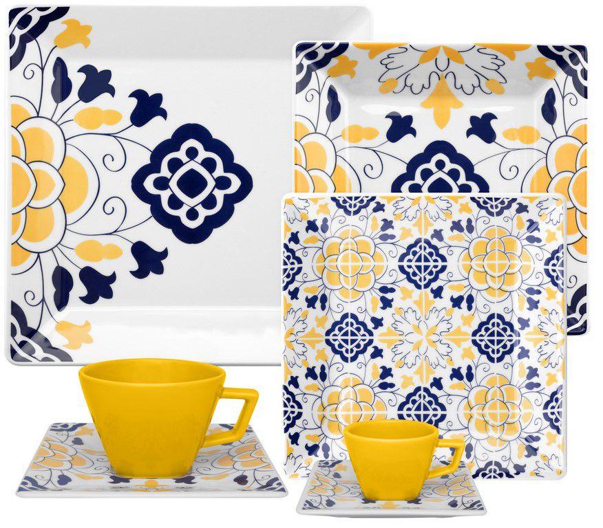 Aparelho De Jantar/Chá 20 Peças Quartier Sevilha - Oxford Porcelanas