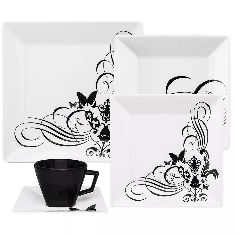 Aparelho De Jantar/Chá 20 Peças Quartier Tattoo - Oxford Porcelanas