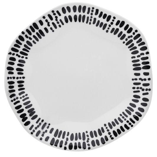Aparelho De Jantar/Chá 20 Peças Ryo Ink - Oxford Porcelanas