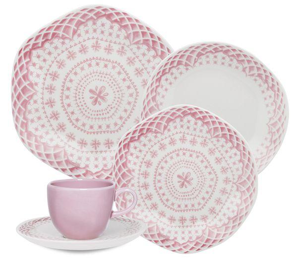 Aparelho De Jantar/Chá 20 Peças Ryo Paris - Oxford Porcelanas