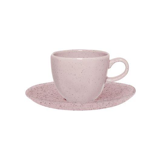 Aparelho De Jantar/Chá 20 Peças Ryo Pink Sand - Oxford Porcelanas