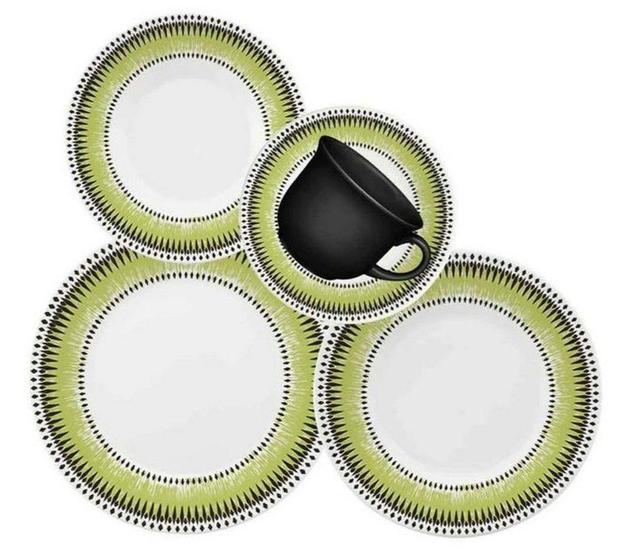 Aparelho De Jantar/Chá 30 Peças Actual Tie Dye - Oxford Biona