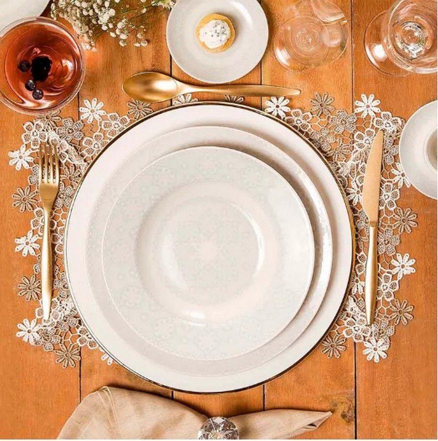 Aparelho De Jantar/Chá 30 Peças Flamingo Dress - Oxford Porcelanas