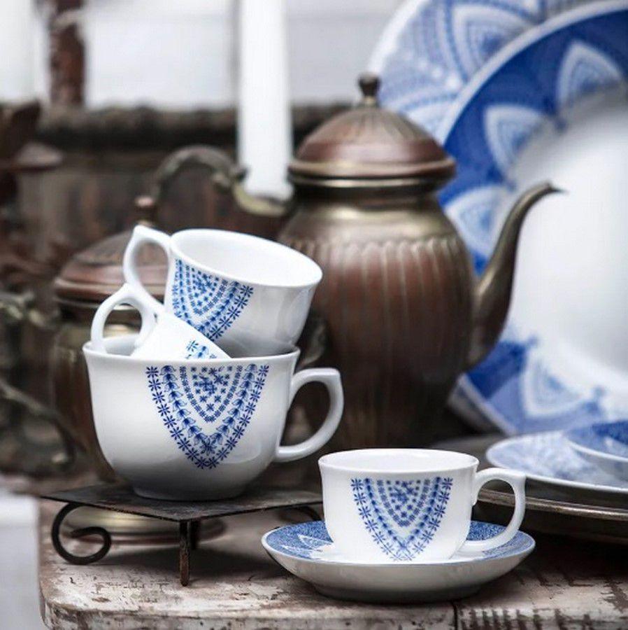 Aparelho De Jantar/Chá 30 Peças Flamingo Milano - Oxford Porcelanas