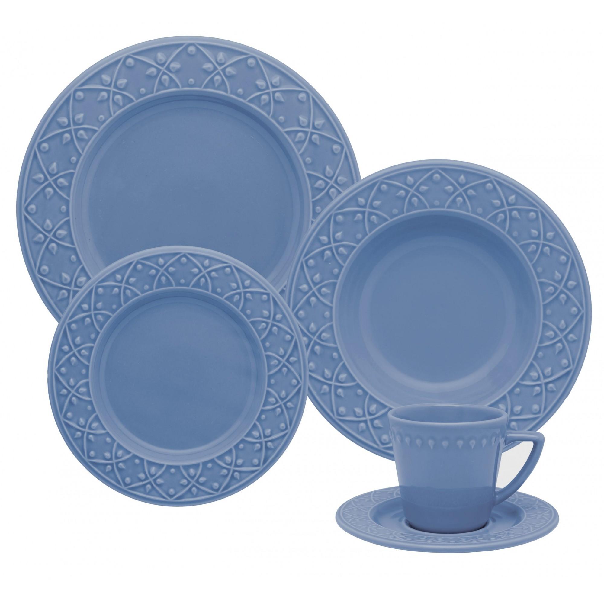 Aparelho De Jantar/Chá 30 Peças Mendi Capri - Oxford Daily