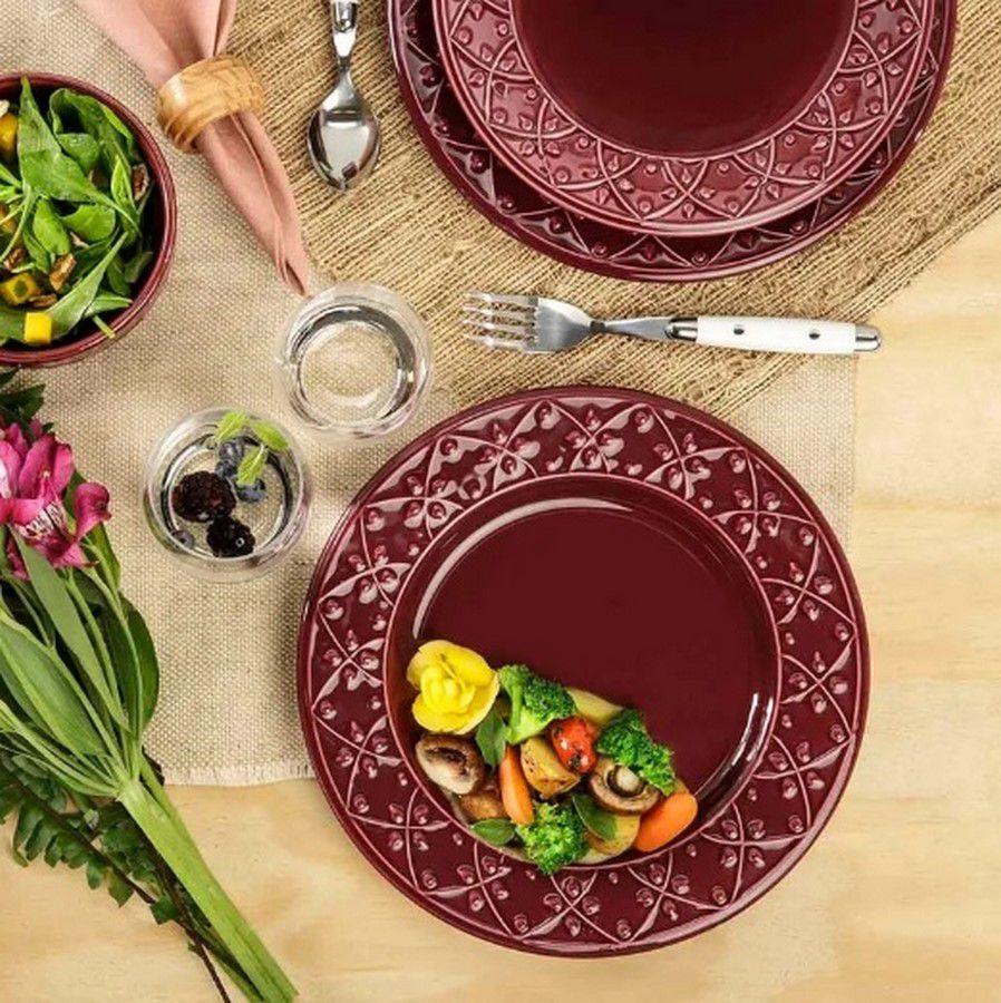 Aparelho De Jantar/Chá 30 Peças Mendi Corvina - Oxford Daily