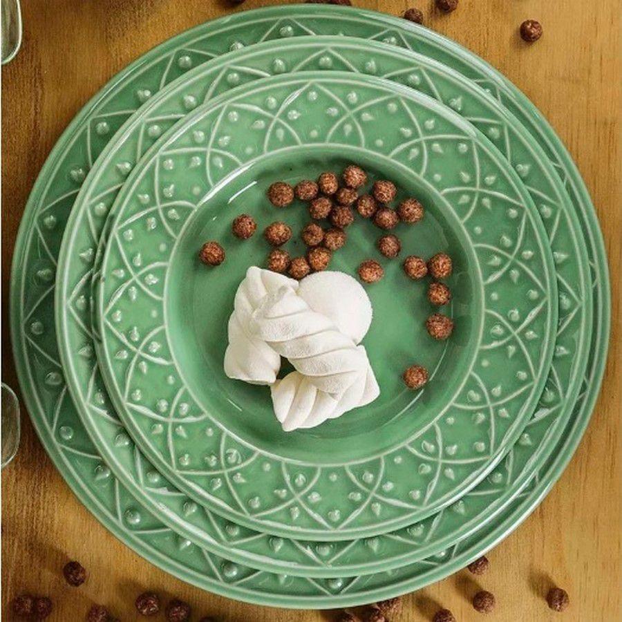 Aparelho De Jantar/Chá 30 Peças Mendi Sálvia - Oxford Daily