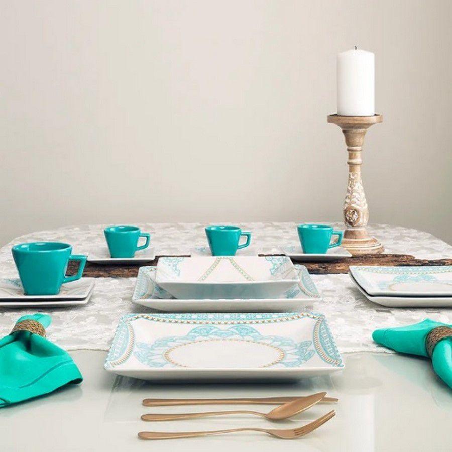 Aparelho De Jantar/Chá 30 Peças Quartier Domo - Oxford Porcelanas