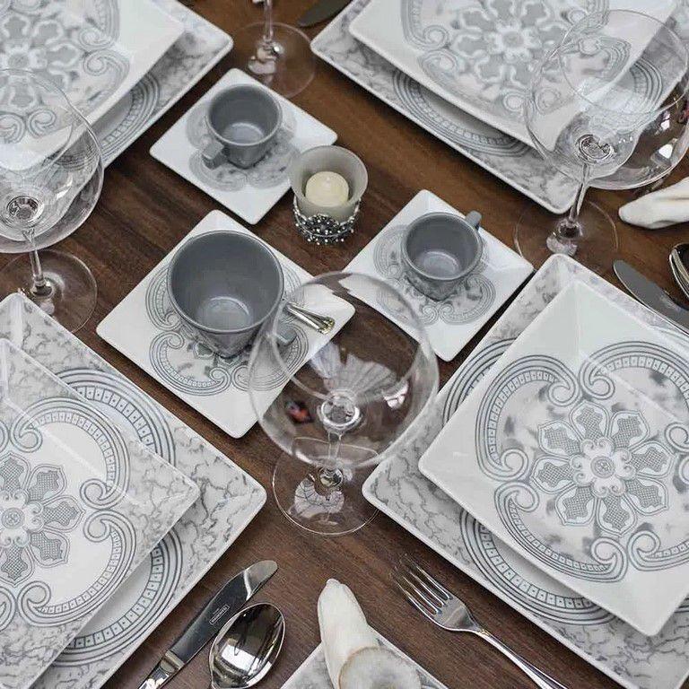 Aparelho De Jantar/Chá 30 Peças Quartier Pantheon - Oxford Daily
