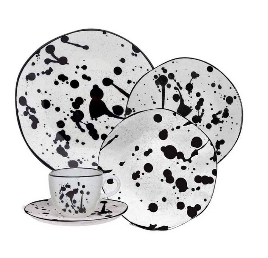 Aparelho De Jantar/Chá 30 Peças Ryo Art - Oxford Porcelanas