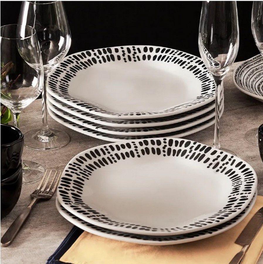 Aparelho De Jantar/Chá 30 Peças Ryo Ink - Oxford Porcelanas
