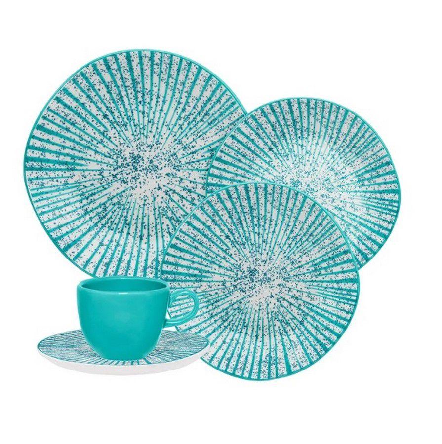 Aparelho De Jantar/Chá 30 Peças Ryo Time - Oxford Porcelanas