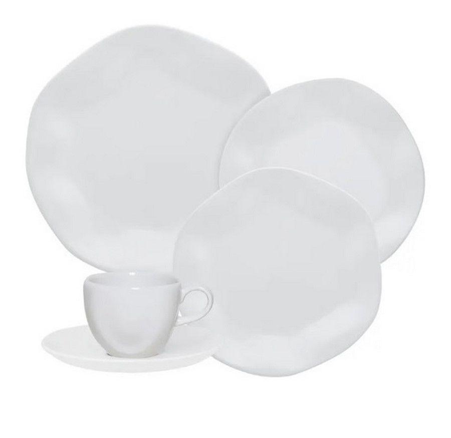 Aparelho De Jantar/Chá 30 Peças Ryo White - Oxford Porcelanas