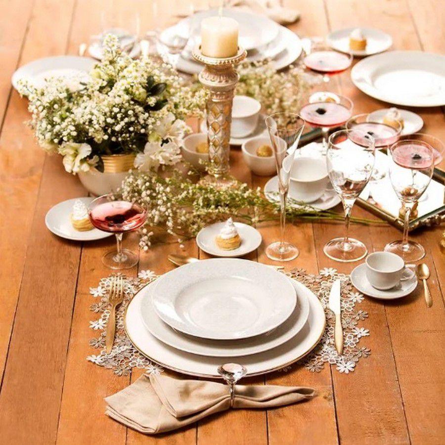 Aparelho De Jantar/Chá 42 Peças Flamingo Dress - Oxford Porcelanas