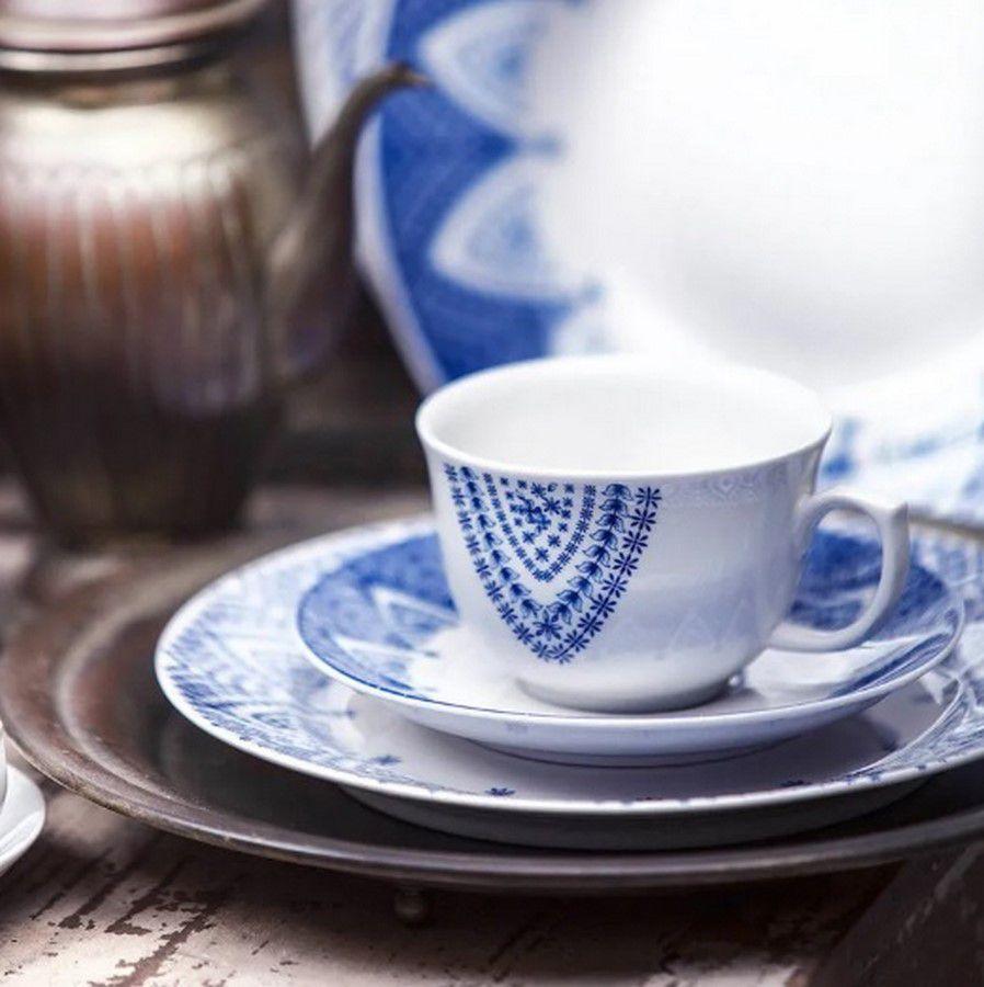 Aparelho De Jantar/Chá 42 Peças Flamingo Milano - Oxford Porcelanas
