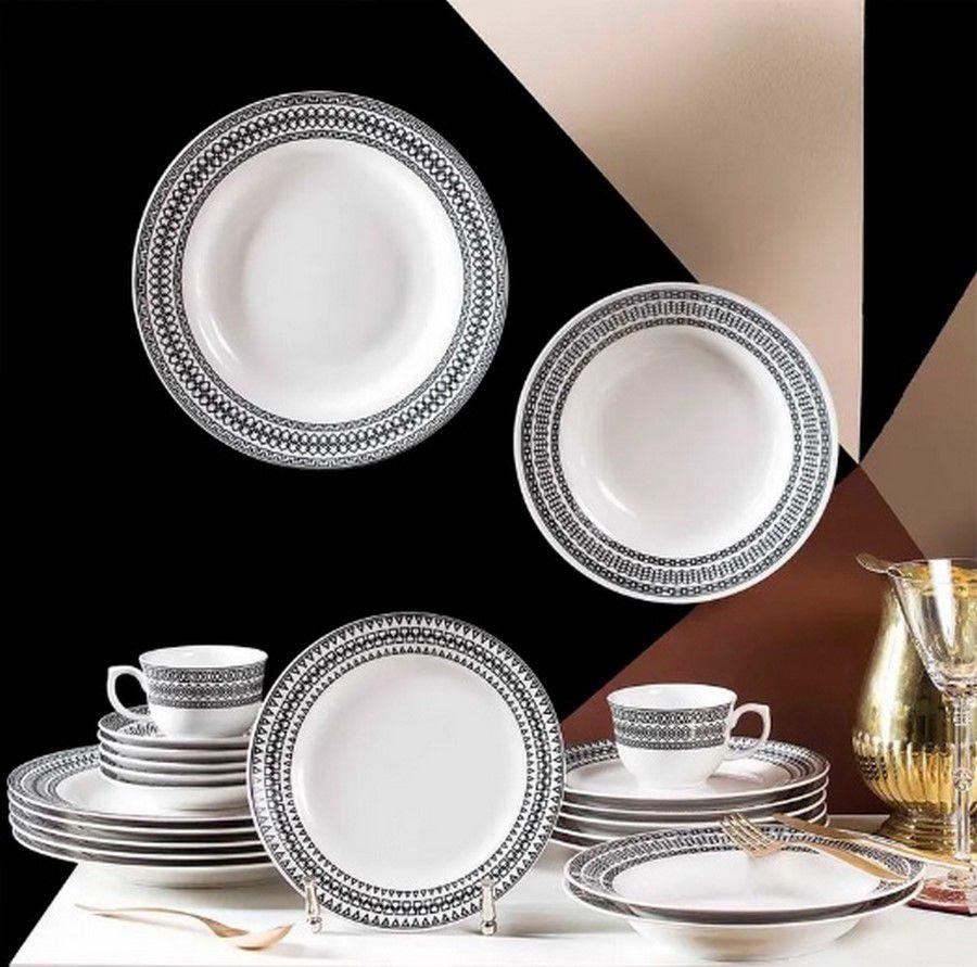 Aparelho De Jantar/Chá 42 Peças Flamingo Sense - Oxford Porcelanas