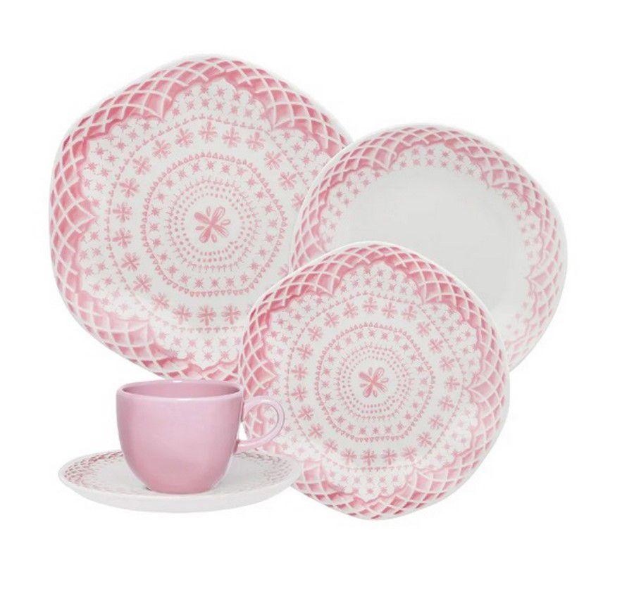 Aparelho De Jantar/Chá 42 Peças Ryo Paris - Oxford Porcelanas