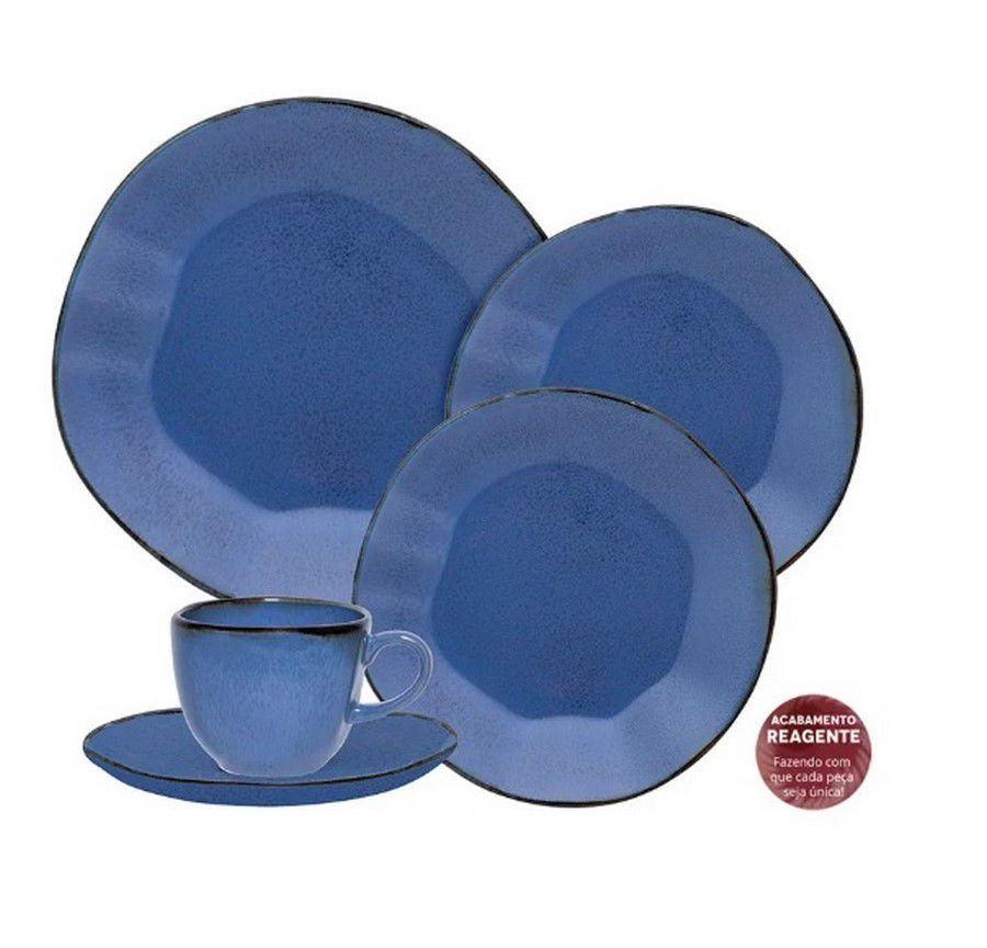 Aparelho De Jantar/Chá 42 Peças Ryo Santorini - Oxford Porcelanas